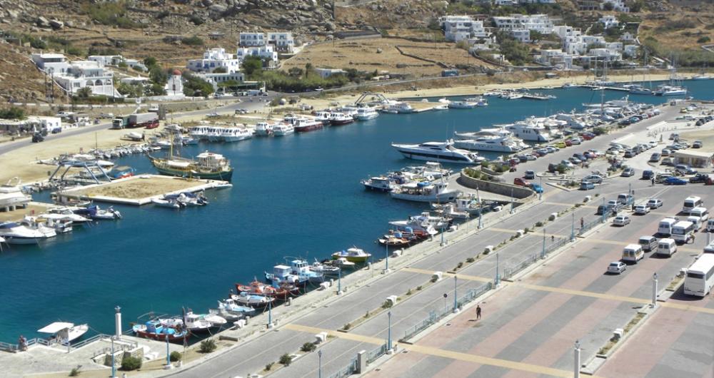 Puerto en Mykonos