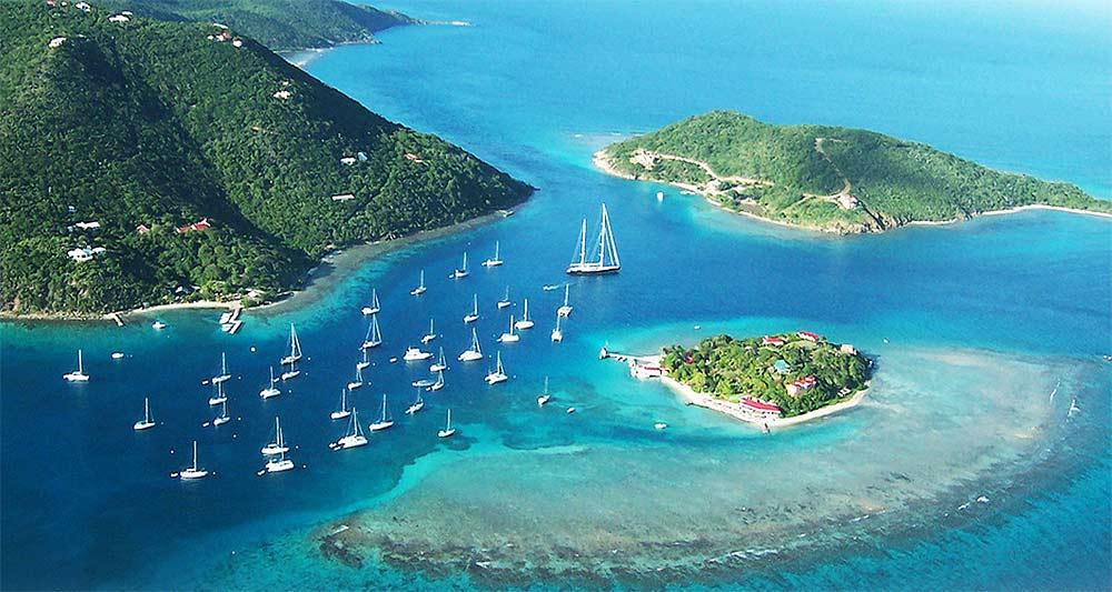 Tortola, islas Virgenes Britanicas, un gran destino de navegación